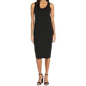 Joan Vass tank stretch pique dress bodycon